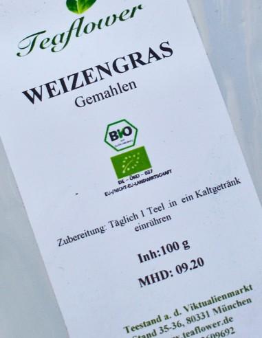 Weizengras BIO gemahlen - 200g / 7,00 €