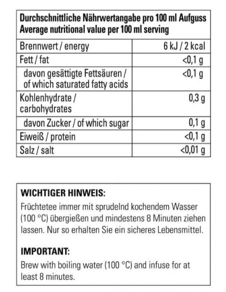 Bio Früchtetee - Waldmeister Himbeere